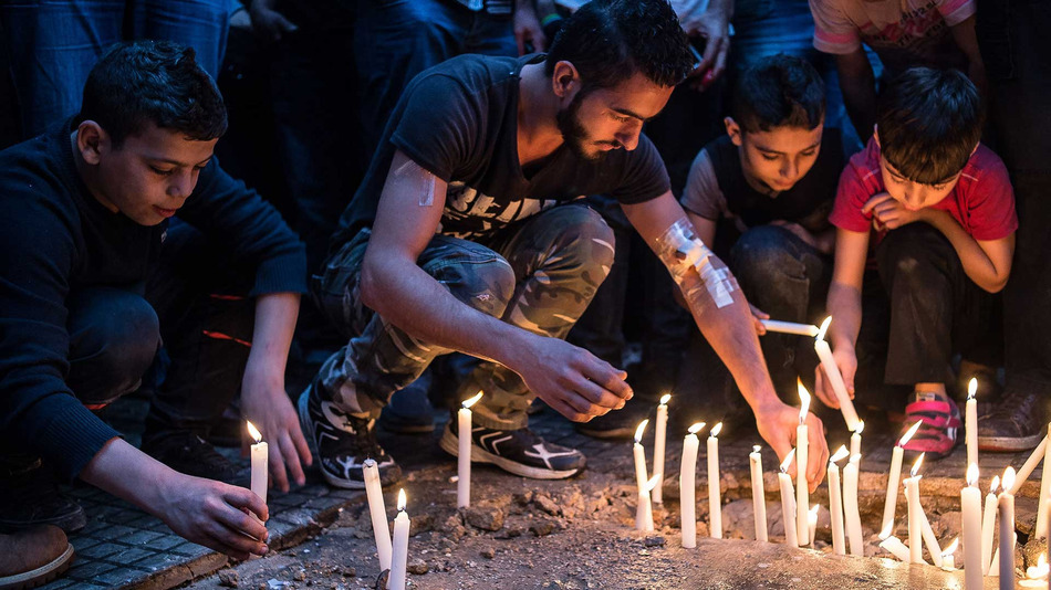 A Beirut vigil in the southern suburb of Dahieh for victims of the deadly attacks on Nov. 12, where 44 people died and over 200 were wounded. These events have been overshadowed by the tragedy in Paris, which happened the following day and raises questions about West racism.