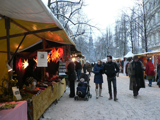 A Christmas market in Berlin.